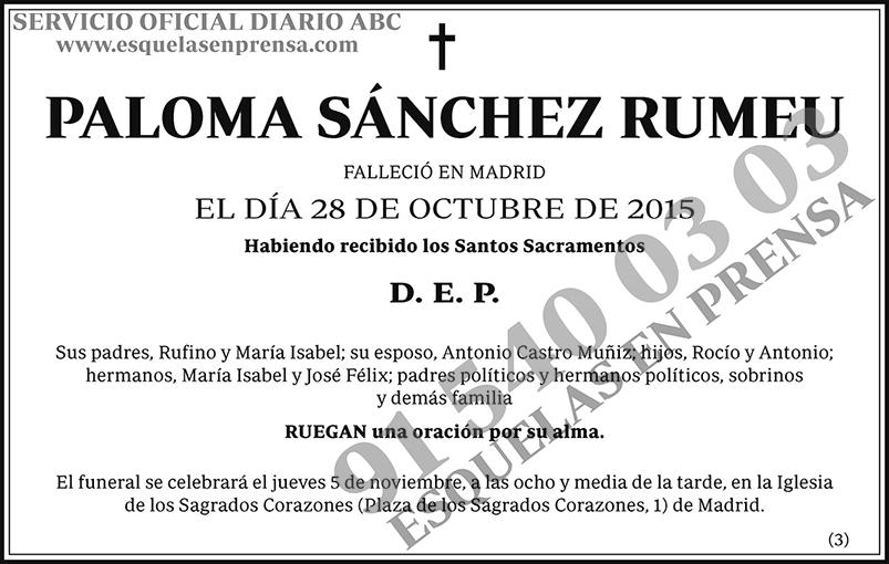 Paloma Sánchez Rumeu